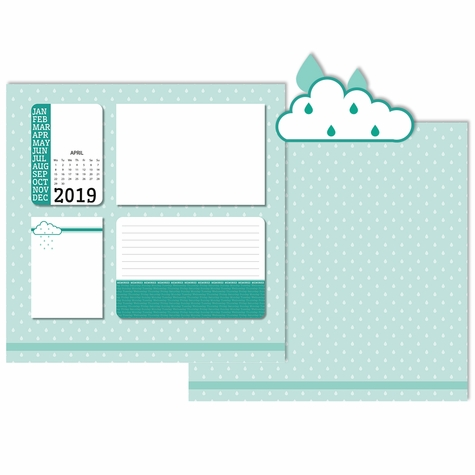 2019 All Year: April 3 Piece Laser Die Cut Kit