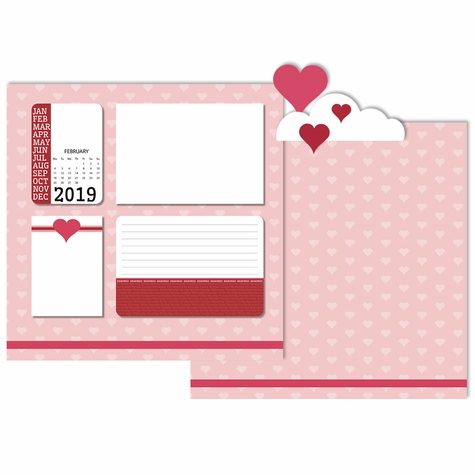 2019 All Year: February 3 Piece Laser Die Cut Kit