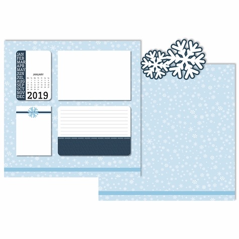2019 All Year: January 3 Piece Laser Die Cut Kit