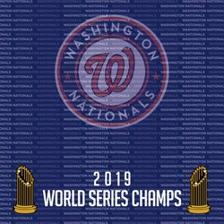 2SYT 2019 Washington Nationals Champs 12 x 12 Paper