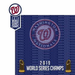 2SYT 2019 Washington Nationals Champs 2 Piece Laser Die Cut Kit