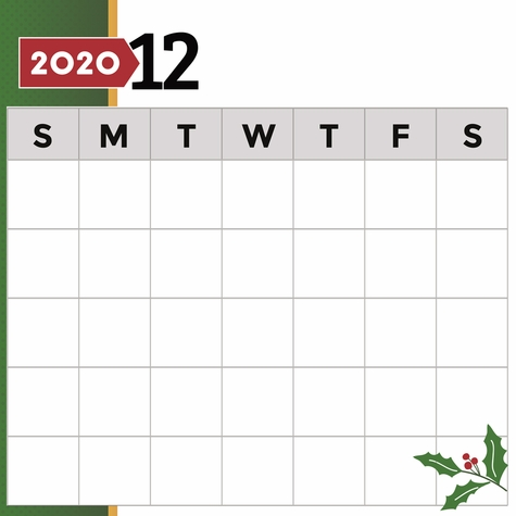 2020 All Year: December Print and Cut 12 x 12 Paper