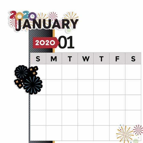 2020 All Year: January 2 Piece Print and Cut Kit