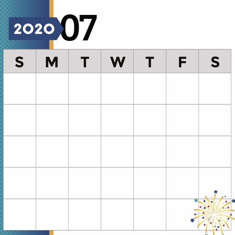 2020 All Year: July Print and Cut 12 x 12 Paper