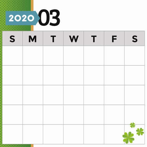 2020 All Year: March Print and Cut 12 x 12 Paper