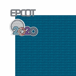 2020 Dis World: EPCOT 2 Piece Print and Cut Kit