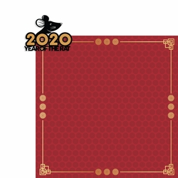 2020 Year of: 2020 Rat 2 Piece Laser Die Cut Kit