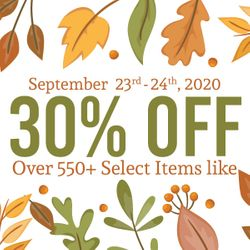 30% off over 550+ Select Items!