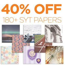 40% off over 180+ SYT Papers