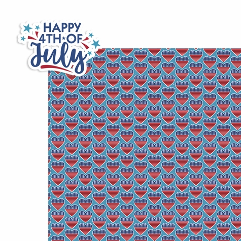 4th of July: Happy 4th of July 2 Piece Laser Die Cut Kit
