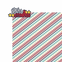 4th of July: Stars and stripes 2 Piece Laser Die Cut Kit