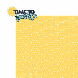 4th of July: Time to sparkle 2 Piece Laser Die Cut Kit