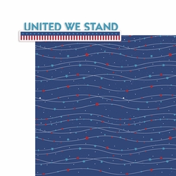 4th of July: United we Stand 2 Piece Print and Cut Kit