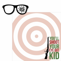A Christmas Story: Shoot Your Eye Out 2 Piece Laser Die Cut Kit