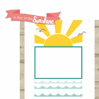 A Day in the Sun Page Layout