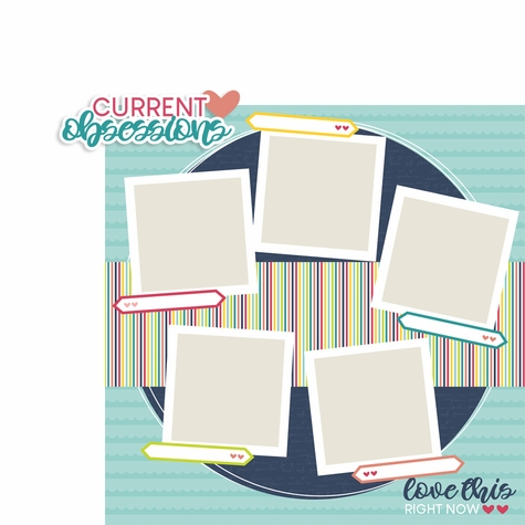 About Me: Current obsessions 2 Piece Laser Die Cut Kit