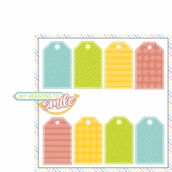 About Me: My reasons to smile 2 Piece Laser Die Cut Kit