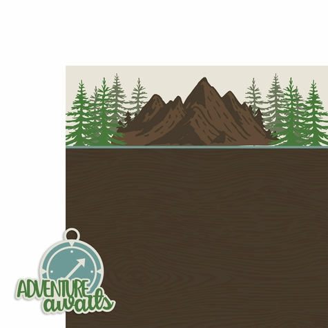 Adventure Awaits compass 2 Piece Laser Die Cut Kit