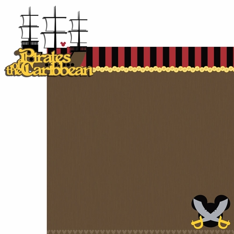 Adventureland: Pirates Caribbean 2 Piece Laser Die Cut Kit