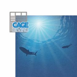 Africa: Cage Diving 2 Piece Laser Die Cut Kit