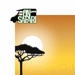 Africa: On Safari 2 Piece Laser Die Cut Kit