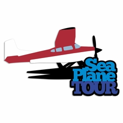 Alaska: Sea Plane Tour Laser Die Cut
