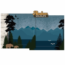 Alaska Wildlife Double Page Layout Kit