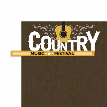 All Country: Country Music Festival 2 Piece Laser Die Cut Kit