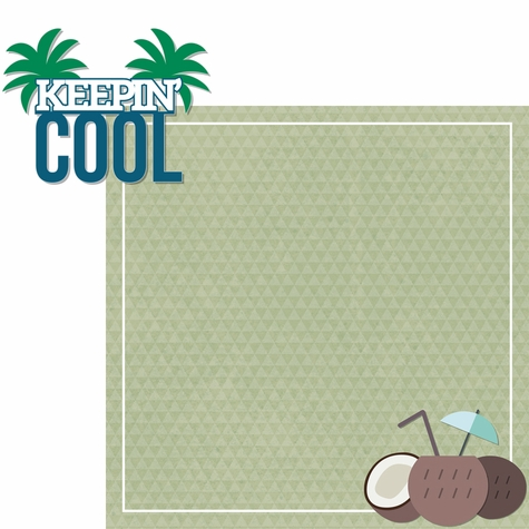 Aloha Beach: Keepin' Cool 2 Piece Laser Die Cut Kit
