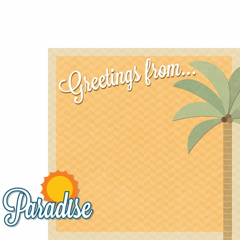Aloha Beach: Paradise 2 Piece Laser Die Cut Kit