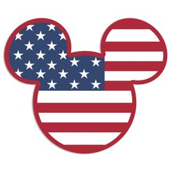 American Adventure mouse head Laser Die Cut