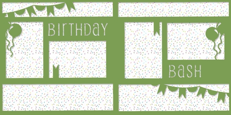 2SYT And Many More: Birthday Bash Double 12 x 12 Overlay Quick Page Laser Die Cut