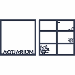 Aquarium Double 12 x 12 Overlay Laser Die Cut