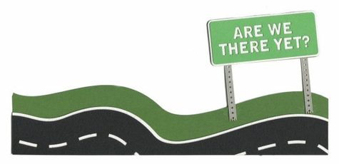 Are We There Yet? Border Laser Die Cut
