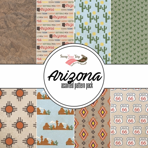 Arizona Assorted 12 x 12 Paper Pack