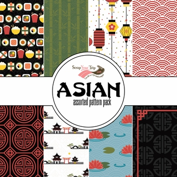 Asian Assorted 12 x 12 Paper Pack