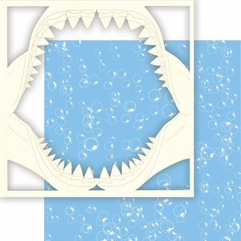 At the Aquarium: Jaws 2 Piece 12 x 12 Overlay Quick Page Laser Die Cut