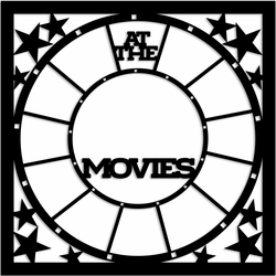 At the Movies 12 x 12 Overlay Laser Die Cut