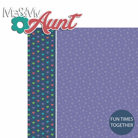 Aunt and Uncle: Me and my Aunt 2 Piece Laser Die Cut Kit