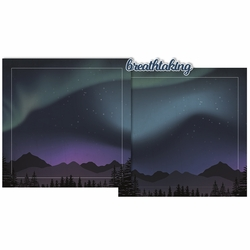Aurora Borealis Double Page Layout Kit