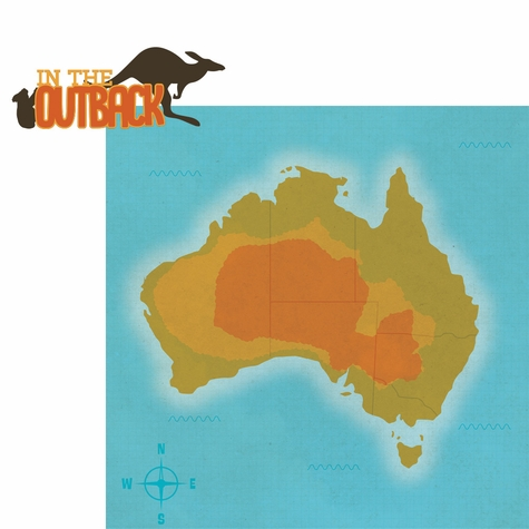 Australia: In The Outback 2 Piece Laser Die Cut Kit