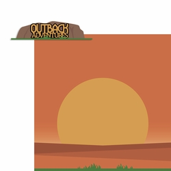 Australia: Outback Adventure 2 Piece Laser Die Cut Kit