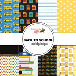 Back to School Assorted 12 x 12 Paper Pack