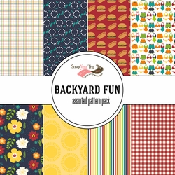 Backyard Fun Assorted 12 x 12 Paper Pack