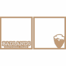 Badlands 12 x 12 Overlay Laser Die Cut