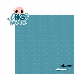 Bahamas: Pig Beach 2 Piece Laser Die Cut Kit