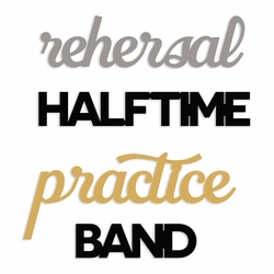 Band: Band Words embellishment pack