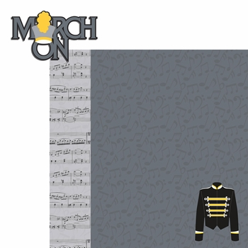 Band: March On 2 Piece Laser Die Cut Kit