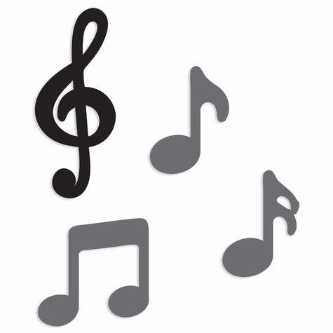Band: Music notes embellishment pack