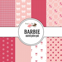 Barbie Assorted 12 x 12 Paper Pack